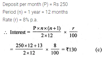 ML Aggarwal Class 10 Solutions for ICSE Maths Chapter 2 Banking MCQS