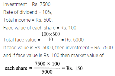 ML Aggarwal Class 10 Solutions for ICSE Maths Chapter 3 Shares and Dividends Ex 3
