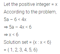 ML Aggarwal Class 10 Solutions for ICSE Maths Chapter 4 Linear Inequations Chapter Test