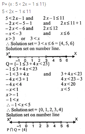 ML Aggarwal Class 10 Solutions for ICSE Maths Chapter 4 Linear Inequations Ex 4
