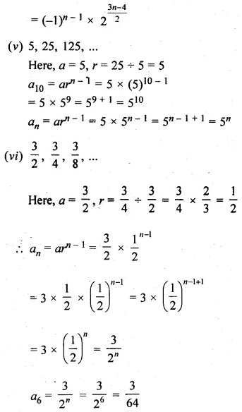 Arithmetic Progression Class 10 ICSE Solutions ML Aggarwal