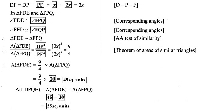 Maharashtra Board Class 10 Maths Solutions Chapter 1 Similarity Practice Set 1.4