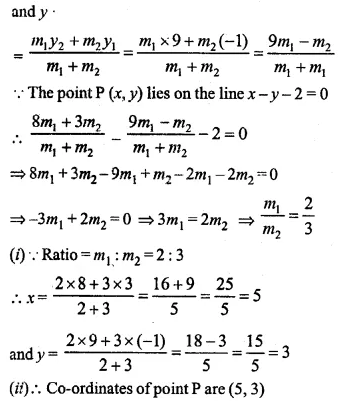 ML Aggarwal Class 10 Solutions for ICSE Maths Chapter 11 Section Formula Ex 11
