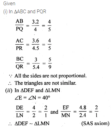ML Aggarwal Class 10 Solutions for ICSE Maths Chapter 13 Similarity Ex 13.1