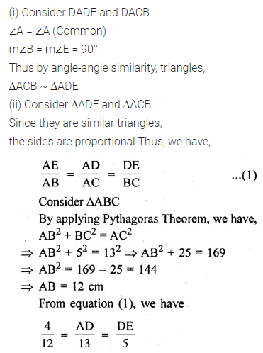ML Aggarwal Class 10 Solutions for ICSE Maths Chapter 13 Similarity Ex 13.3