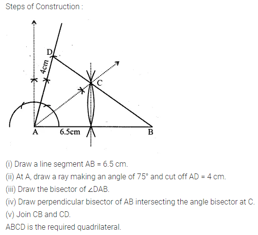 ML Aggarwal Class 10 Solutions for ICSE Maths Chapter 14 Locus Chapter Test