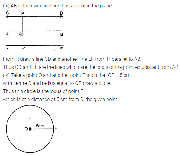 ML Aggarwal Class 10 Solutions for ICSE Maths Chapter 14 Locus Ex 14