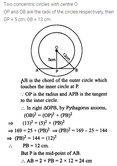 ML Aggarwal Class 10 Solutions for ICSE Maths Chapter 15 Circles Ex 15.3