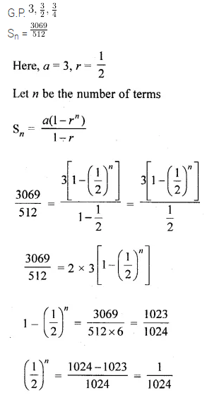 ML Aggarwal Class 10 Solutions for ICSE Maths Chapter 9 Arithmetic and Geometric Progressions Chapter Test