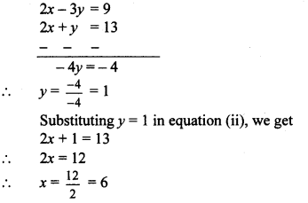 Maharashtra Board Class 10 Maths Solutions Chapter 1 Linear Equations in Two Variables Ex 1.1 3