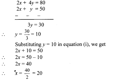 Maharashtra Board Class 10 Maths Solutions Chapter 1 Linear Equations in Two Variables Problem Set 39