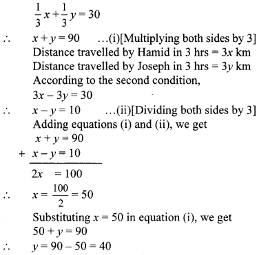 Maharashtra Board Class 10 Maths Solutions Chapter 1 Linear Equations in Two Variables Problem Set 43