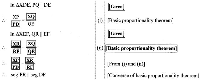 Maharashtra Board Class 10 Maths Solutions Chapter 1 Similarity Practice Set 1.2 12