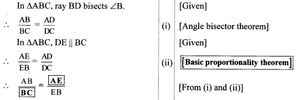 Maharashtra Board Class 10 Maths Solutions Chapter 1 Similarity Practice Set 1.2 21