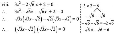 Maharashtra Board Class 10 Maths Solutions Chapter 2 Quadratic Equations Practice Set 2.2 9
