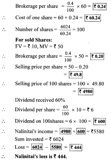 Maharashtra Board Class 10 Maths Solutions Chapter 4 Financial Planning Practice Set 4.4 4