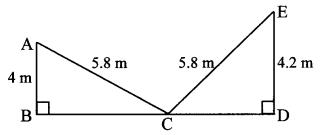 Maharashtra Board Class 10 Maths Solutions Chapter 2 Pythagoras Theorem Practice Set 2.1 9