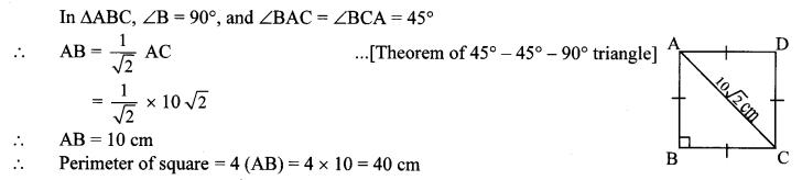 Maharashtra Board Class 10 Maths Solutions Chapter 2 Pythagoras Theorem Problem Set 2 3