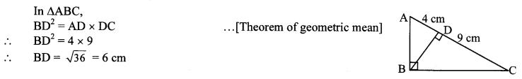 Maharashtra Board Class 10 Maths Solutions Chapter 2 Pythagoras Theorem Problem Set 2 4