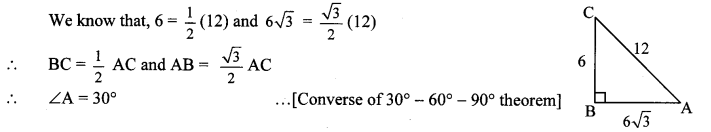 Maharashtra Board Class 10 Maths Solutions Chapter 2 Pythagoras Theorem Problem Set 2 6