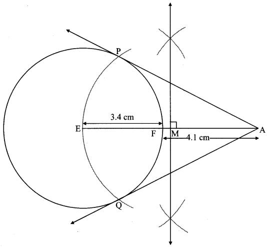 Maharashtra Board Class 10 Maths Solutions Chapter 4 Geometric Constructions Problem Set 4 10