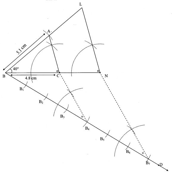 Maharashtra Board Class 10 Maths Solutions Chapter 4 Geometric Constructions Problem Set 4 12