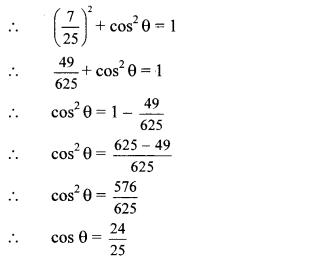 Maharashtra Board Class 10 Maths Solutions Chapter 6 Trigonometry Practice Set 6.1 1