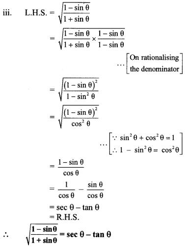 Maharashtra Board Class 10 Maths Solutions Chapter 6 Trigonometry Practice Set 6.1 18