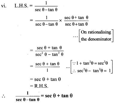 Maharashtra Board Class 10 Maths Solutions Chapter 6 Trigonometry Practice Set 6.1 21