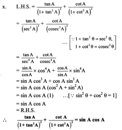 Maharashtra Board Class 10 Maths Solutions Chapter 6 Trigonometry Practice Set 6.1 24