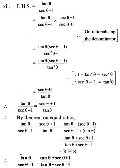 Maharashtra Board Class 10 Maths Solutions Chapter 6 Trigonometry Practice Set 6.1 26