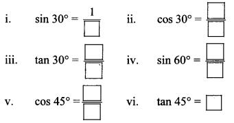Maharashtra Board Class 10 Maths Solutions Chapter 6 Trigonometry Practice Set 6.1 30