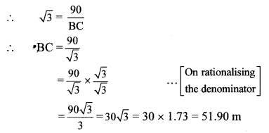 Maharashtra Board Class 10 Maths Solutions Chapter 6 Trigonometry Practice Set 6.2 3