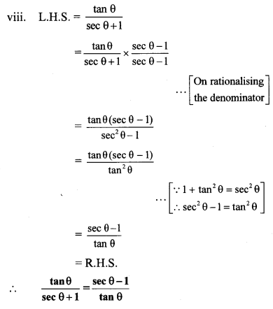 Maharashtra Board Class 10 Maths Solutions Chapter 6 Trigonometry Problem Set 6 11