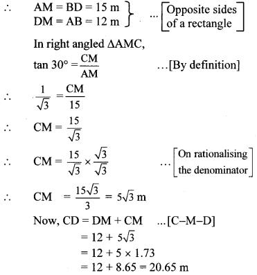 Maharashtra Board Class 10 Maths Solutions Chapter 6 Trigonometry Problem Set 6 20