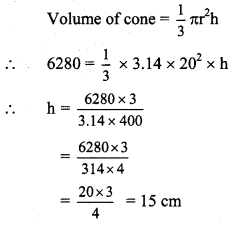 Maharashtra Board Class 9 Maths Solutions Chapter 9 Surface Area and Volume Practice Set 9.2 3