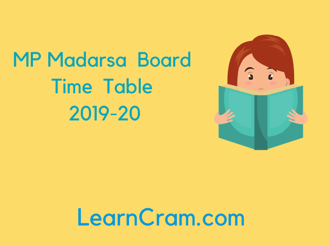 MP Madarsa Board Time Table (Released) | Download MP Madarsa Board Time Table from Here