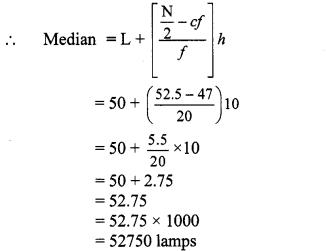 Maharashtra Board Class 10 Maths Solutions Chapter 6 Statistics Practice Set 6.2 12