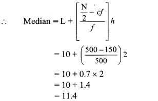 Maharashtra Board Class 10 Maths Solutions Chapter 6 Statistics Practice Set 6.2 3