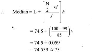 Maharashtra Board Class 10 Maths Solutions Chapter 6 Statistics Practice Set 6.2 9