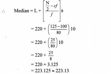 Maharashtra Board Class 10 Maths Solutions Chapter 6 Statistics Problem Set 6 16
