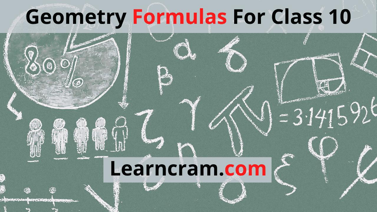 Geometry Formulas For Class 10