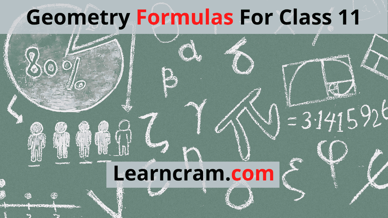 Geometry Formulas For Class 11