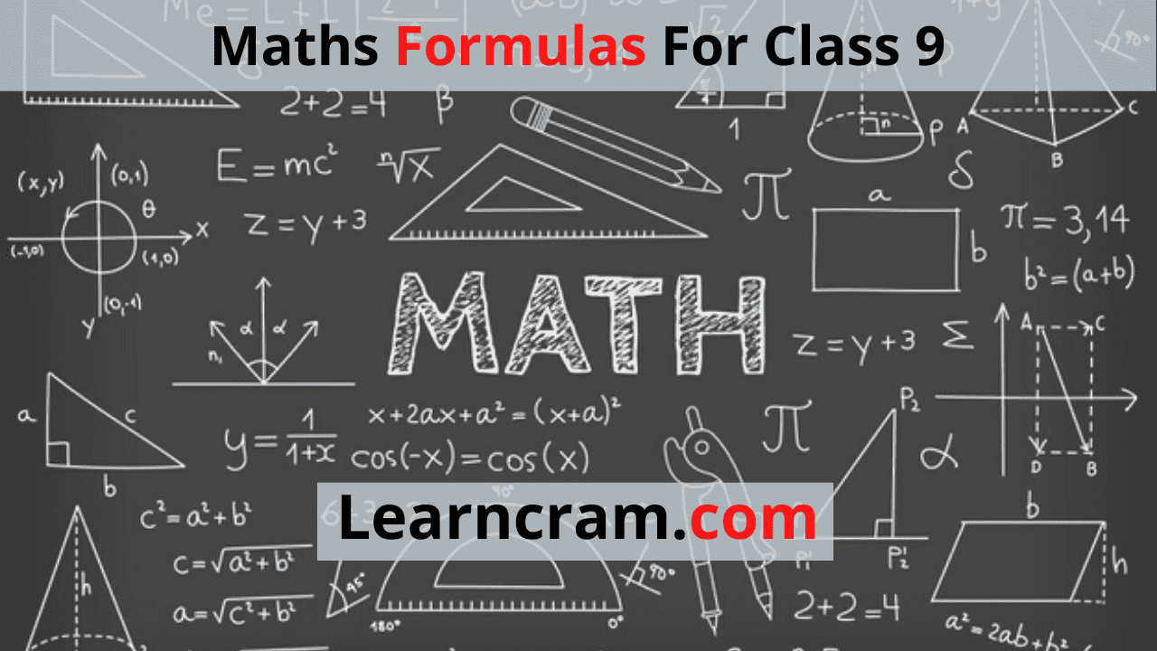 Maths Formulas For Class 9