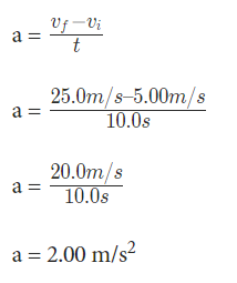 Solved Examples on Acccerelation Formula