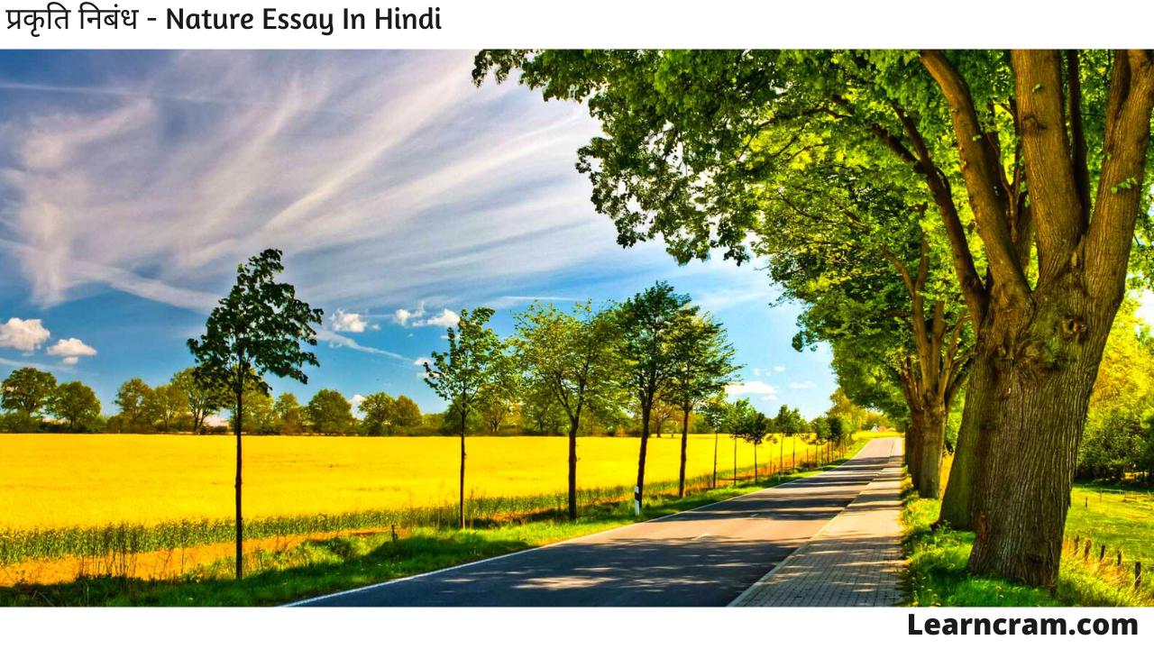 Nature Essay In Hindi