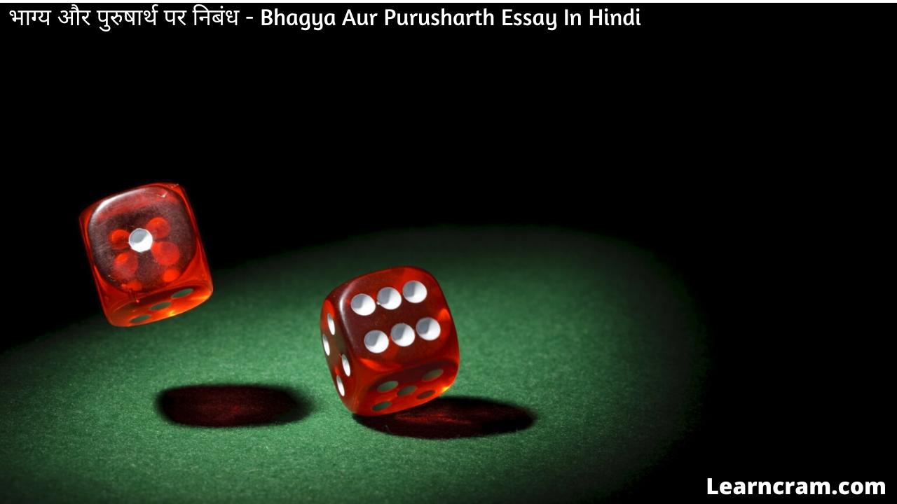 Bhagya Aur Purusharth Essay In Hindi