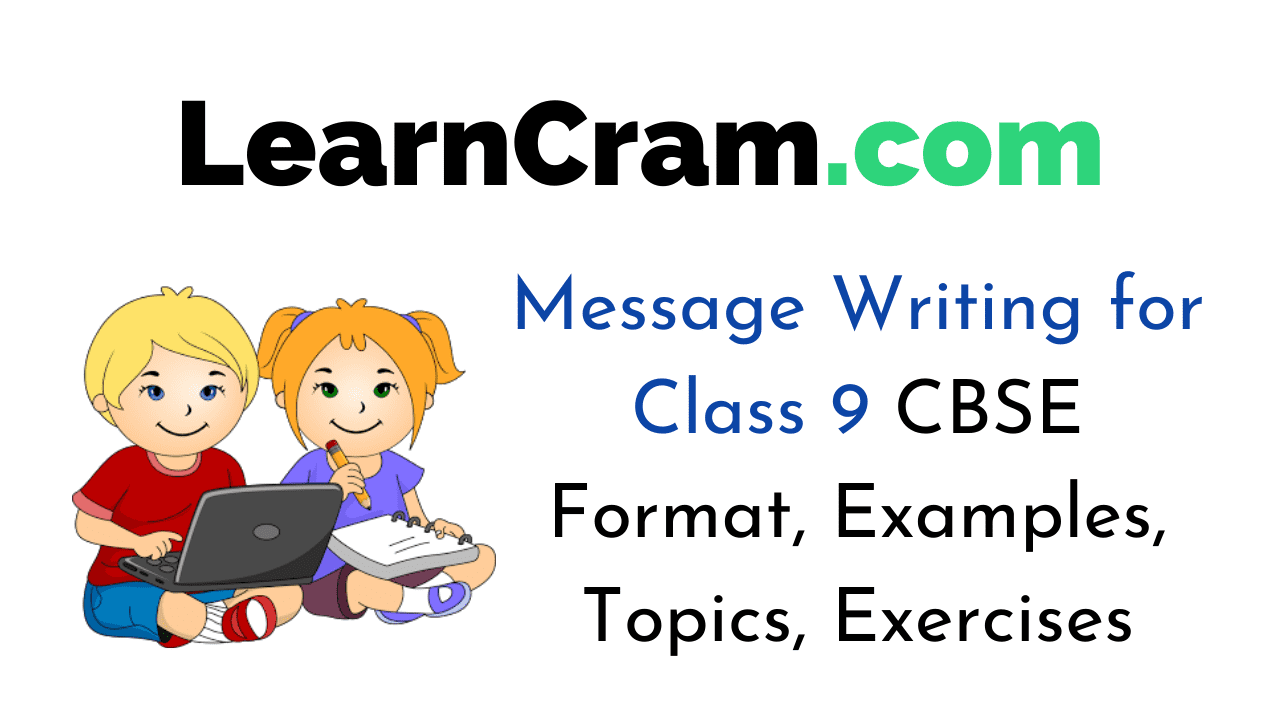Message Writing for Class 9 CBSE