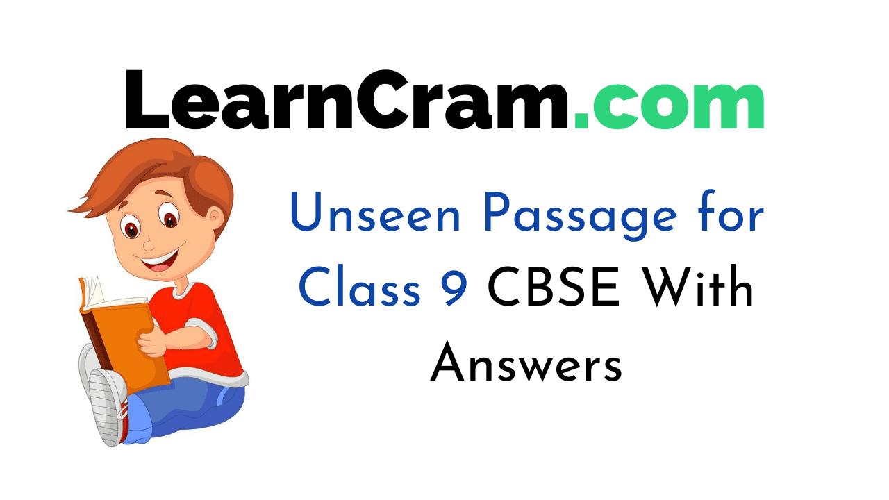 Unseen Passage for Class 9 CBSE