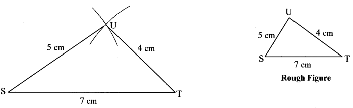 Maharashtra Board Class 7 Maths Solutions Chapter 1 Geometrical Constructions Practice Set 2 2